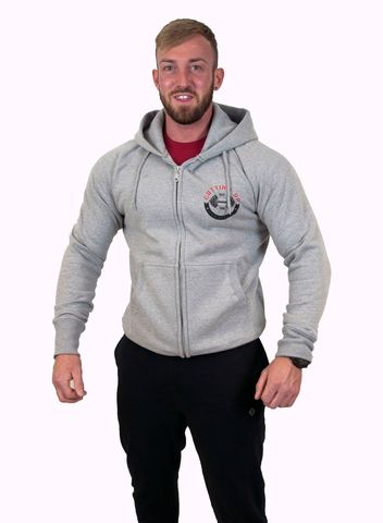 MENS,PREMIUM,CLASSIC,GREY,LOGO,ZIPPED,HOODIE,Hoodies,sweatshirt,hooded top
