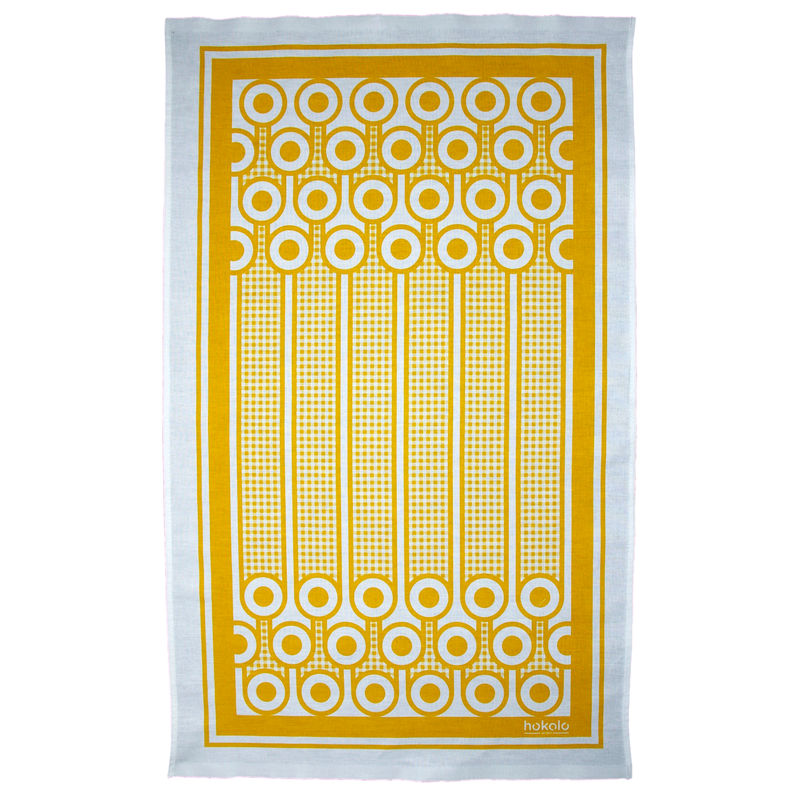 Cotton tea towel - eggs pattern - product image