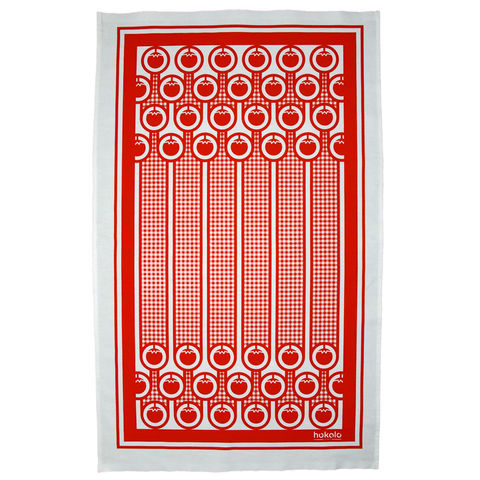 Cotton,tea,towel,-,tomatoes,pattern,bright colourful cotton tea towel, english breakfast, gingham, tomatoes, red, graphic design, mother's day gift, housewarming gifts, dish towel, homeware, kitchen