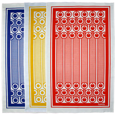 Cotton,tea,towels,-,pack,of,3,cotton tea towel, bright colourful tea towel, english breakfast, fried eggs, yellow, gingham, tomatoes, red, blueberries, blue, graphic design, mother's day gift, housewarming gifts, dish towel, homeware, kitchen
