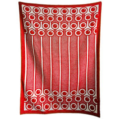 Woven Lambswool blanket - red currants pattern - product images 4 of 4