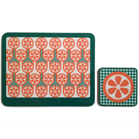 coaster,&,placemat,set,-,Oranges,coaster placemat set, Oranges pattern coaster placemat, graphic design, mother's day gift, housewarming gifts, homeware, tableware, english breakfast