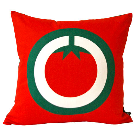 Screen,printed,cushion,cover,-,Tomato,english breakfast print, screen printed cushion cover, tomato print cushion cover, pattern cushion, red cushion, graphic design, mother's day gift, housewarming gifts, homeware, valentine's day gift