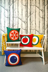 Screen printed cushion cover - Orange - product images 3 of 3