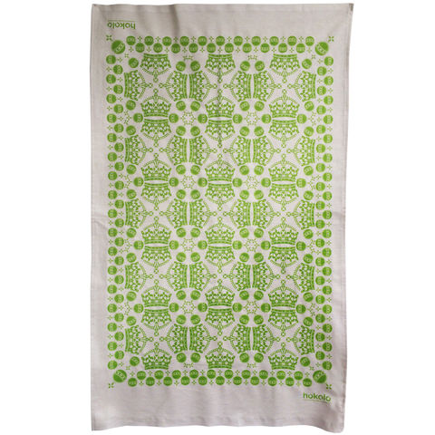 Cotton,tea,towels,-,crown,orb,pattern,green,unbleached cotton tea towel, natural cotton tea towel, bright colourful tea towel, crown, pattern, sovereign orb, graphic design, mother's day gift, housewarming gifts, dish towel, homeware, kitchen, green tea towel