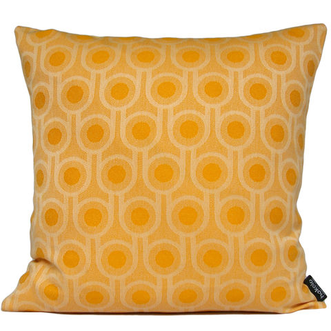 Benedict,Dawn,Small,Repeat,cushion,45x45cm,woven wool cushion, woven wool pillow, bold pattern cushion pillow, graphic cushion pillow, interior design, housewarming gifts, homeware, home accessories, mid century modern, yellow cushion pillow, gold cushion pillow, geometric cushion pillow