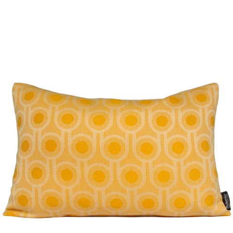 Benedict,Dawn,Small,Repeat,cushion,30x45cm,woven wool cushion, woven wool pillow, bold pattern cushion pillow, graphic cushion pillow, interior design, housewarming gifts, homeware, home accessories, mid century modern, yellow cushion pillow, gold cushion pillow, geometric cushion pillow