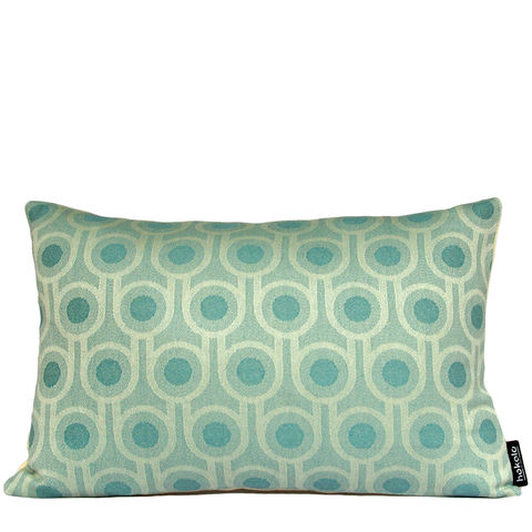 Benedict,Blue,Small,Repeat,cushion,30x45cm,woven wool cushion, woven wool pillow, bold pattern cushion pillow, graphic cushion pillow, interior design, housewarming gifts, homeware, home accessories, mid century modern, blue cushion pillow, teal cushion pillow, geometric cushion pillow