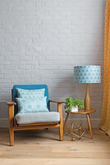 Benedict Blue Small Repeat cushion 45x45cm - product images 4 of 5