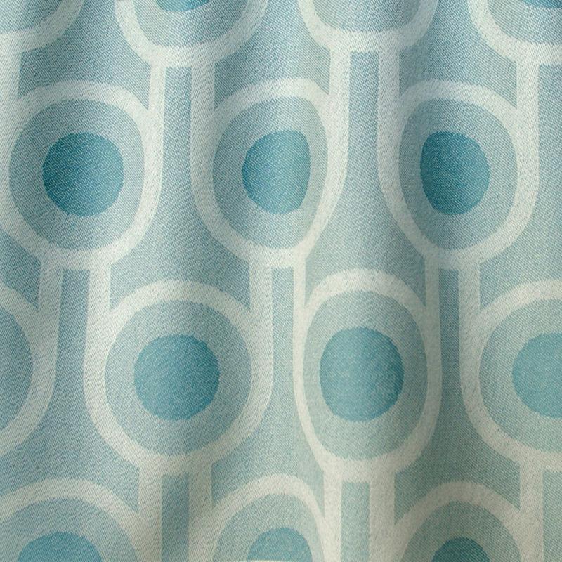 Benedict Blue Large Repeat Woven Wool Fabric Hokolo