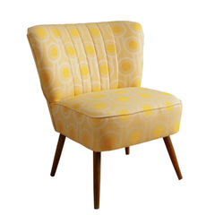 Vintage mid-century cocktail chair upholstered in Benedict Dawn fabric - product images 1 of 2