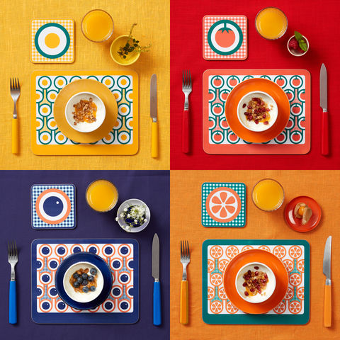coaster,&,placemat,set,-,4,sets,coaster placemat set, sets of four coaster placemat, melamine placemat coaster, graphic design, mother's day gift, housewarming gifts, homeware, tableware, english breakfast