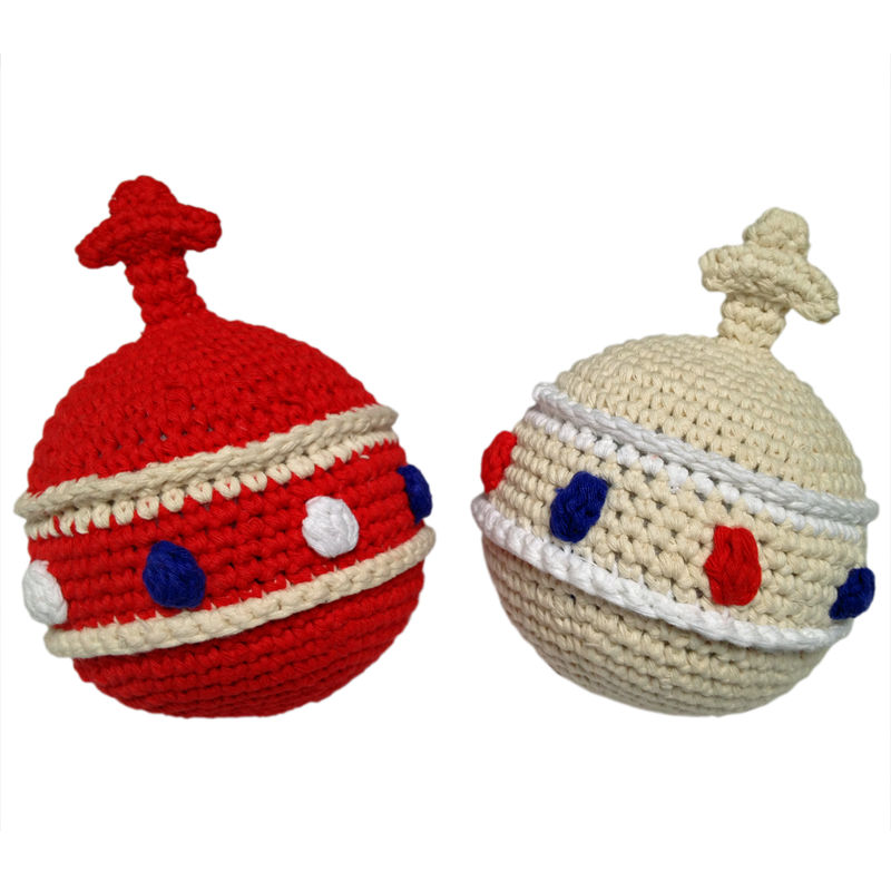 Crochet orb rattle - red - product image