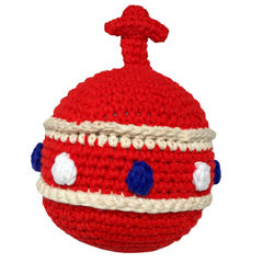 Crochet orb rattle - red - product images 1 of 3