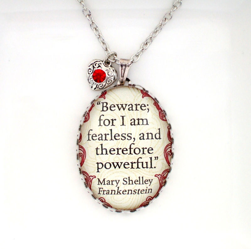 Frankenstein Necklace,Frankenstein Quote Necklace - product images  of