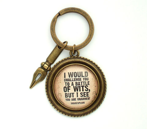 Shakespeare,Quote,Key,Ring,Accessories,Keychain,shakespeare_quote,literary_quote,quote_key_ring,quote_key_chain,witty_quote,funny_quote_key_ring,uk,book_lover_gift,reader_gift,student_gift,literary_jewellery,friend_gift,gift_for_him