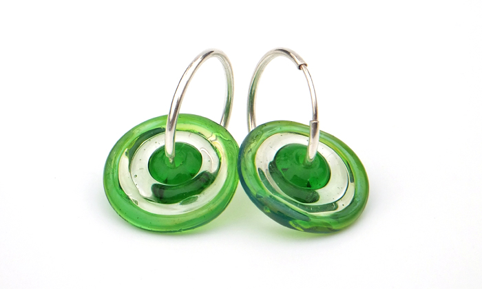 Bobbie Pene Lampwork Glass Earrings