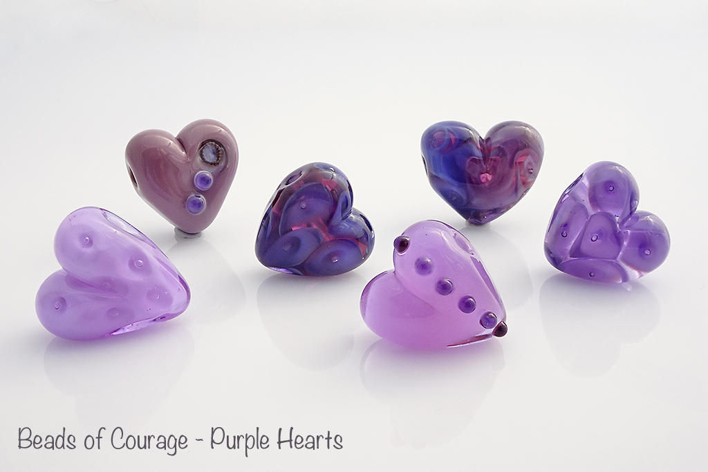 Beads of Courage - Purple Hearts