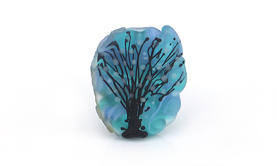 Lampwork Glass Tree Bead