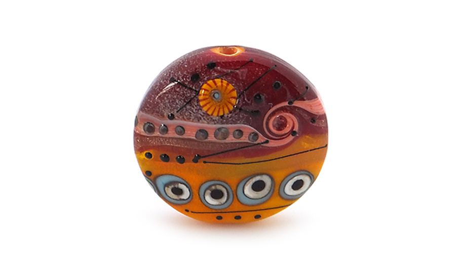 Lampwork Glass Abstract Focal Bead
