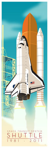 Space,Shuttle,-,12x36,Fine,Art,Print,giclee, giclee print, space art, space shuttle, nasa, nasa art