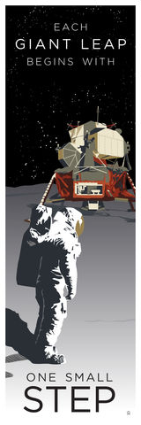 One,Small,Step,-,12x36,POPaganda,print,limited,geek,Nerd,gicleé,space,nasa,apollo,astronaut