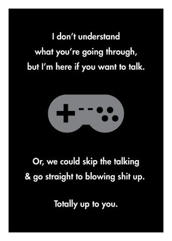 Video,Game,Sympathy,Geeky,Greeting,Card,geeky greeting,Video games,gamer,sympathy,encouragement