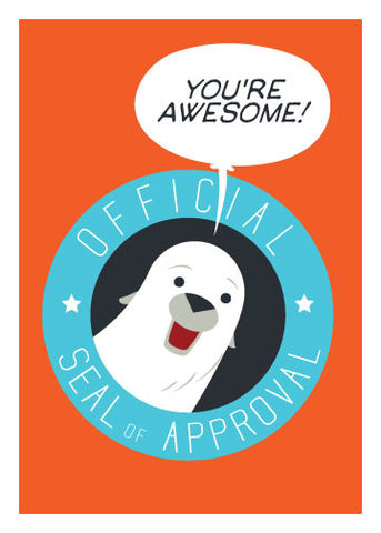 Seal,Of,Approval,Encouragement,Geeky,Greeting,Card,geeky greeting,dinosaur,fossil,paleontology,cute,friend