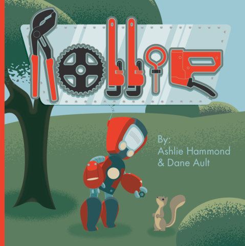 Rollie,the,Robot,All,Ages,Picture,Book,children,kid's,robots,rollie,working,cute,widgets
