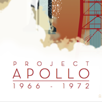 Apollo Project Saturn V 12x36 POPaganda print - product images  of
