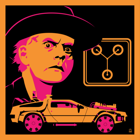 Great,Scott,1885,-,BTTF3,8x8,Giclee,Art,Print,bttf,backtothefuture,docbrown,daneault,art,80s