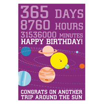 Another,Trip,Around,The,Sun,Birthday,Geeky,Greeting,Card,card,geek,Nerd,geeky greeting,science,space,birthday