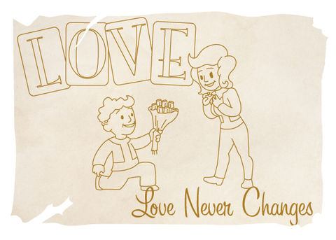 Love,Never,Changes,Geeky,Greeting,Card,card,geek,Nerd,cute,geeky greeting,gamer,fallout