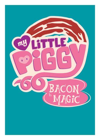 My,Little,Piggy,Geeky,Greeting,Card,bacon,brony,funny,geek,mlp,my little pony,Nerd