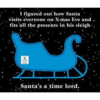Santa,Who,Geeky,Greeting,Card,Holiday,fun,geek,santa,Nerd,holiday,greeting card,tardis,Dr Who