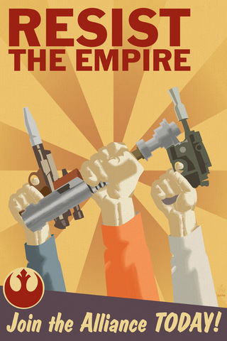 Resist,The,Empire,Rebel,Aliance,Propaganda,-,12x18,Print,star wars,war,star,print,art,photo,Large,propaganda,Poster,rebel