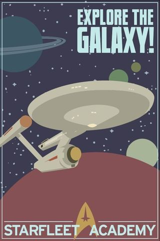 Explore,The,Galaxy,Star,Trek,12x18,Print,geekery,science,Humor,art,print,scifi,star,trek,enterprise,television,tv