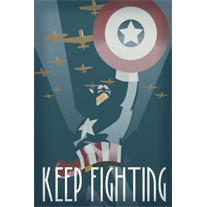 Keep Fighting 12x18 Propaganda Print - product images  of