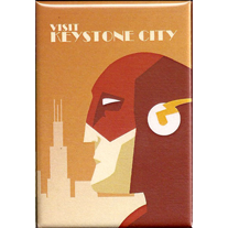 Visit,Keystone,City,2x3,Magnet,retro,geek,flash,Nerd,visit,dccomics,keystone city