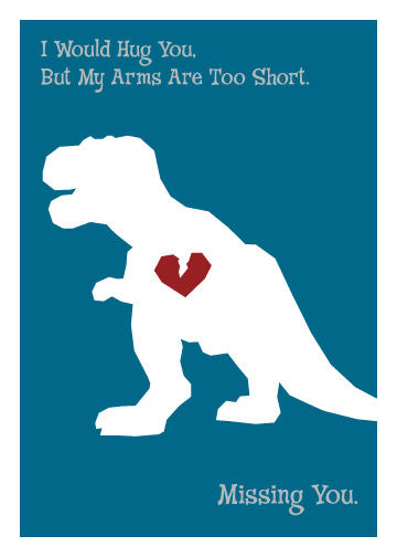 Dinosaur missing you geeky greeting card monkey minion press dinosaur missing you geeky greeting card product images m4hsunfo