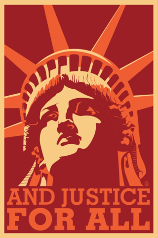 And,Justice,For,All,Postcards,-,10,pack,postcard,justice,statue of liberty,art,design,vector art,dane ault