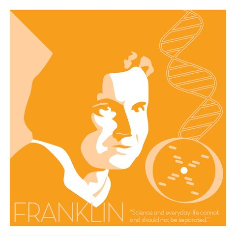 Rosalind,Franklin,-,Eureka,Giclee,print,giclee, print, science, einstein, albert einstein, relativity, e=mc2, vector art