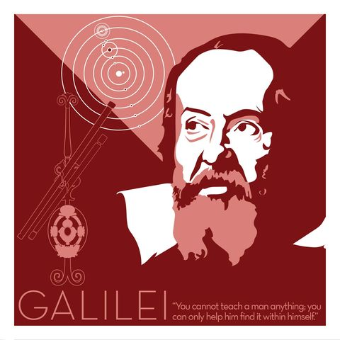 Galileo,Galilei,-,Eureka,Giclee,print,giclee, print, science, einstein, albert einstein, relativity, e=mc2, vector art