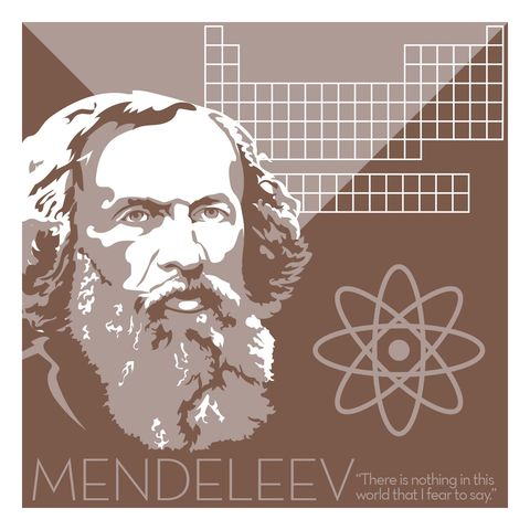Dmitry,Mendeleev,-,Eureka,Giclee,print,giclee, print, science, mendeleev, periodic table, chemistry