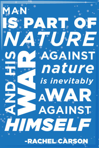 Rachel,Carson,Quote,-,2x3,Magnet, typography, Rachel Carson, incredible, magnet, fridge magnet, ecology, silent spring, ddt, nature