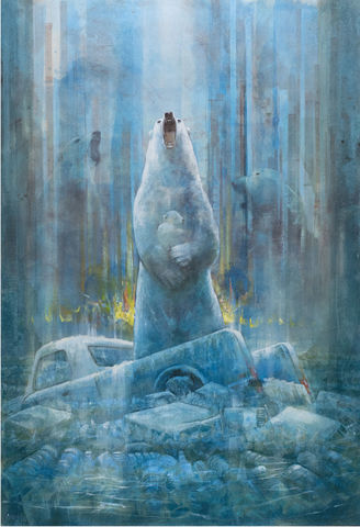 Arctic,Scream,by,Andrew,Burns,Colwill,Signed print, 20/50 Vision, Andrew Burns Colwill, Street art, Fine art, Environmental, Climate Change