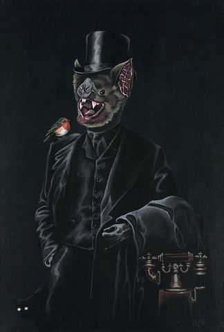 Bruce,by,Julian,Quaye,Signed limited edition print, rabbit, anthropomorphic, low brow