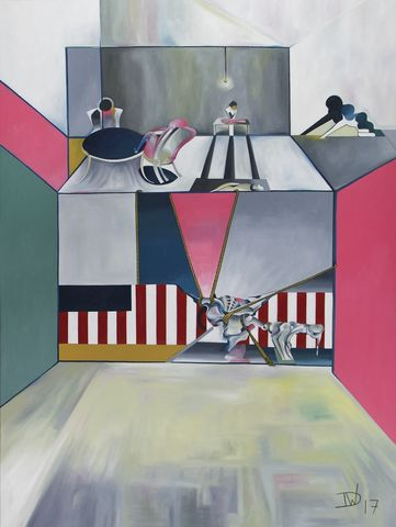 The,American,Series,-,Butcher's,Table,Blues,by,Thomas,Dowdeswell,Art prints, contemporary art, America