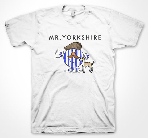 Blue,Mr,Yorkshire,Tee, Tshirt, sheffield, yorkshiretee, yorkshire, dtg, vinyl, sheffield wednesday, sheffield united, mr men, football