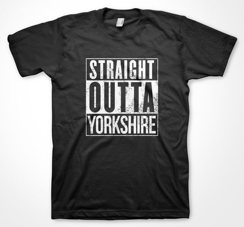 STRAIGHT,OUTTA,YORKSHIRE,tshirt, tee, yorkshiretee, sheffield, accent, sayings, yorkshire, dtg, printing, straight outta compton, dr dre, nwa,
